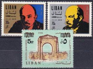 Lebanon #C648-9, C657   MNH CV  $8.00  (Z7483)