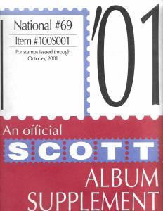 Scott National #69 Supplement 2001