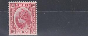 PERAK  1937  S G 92  6C SCARLET  MH