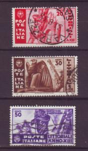 J16968 JLstamps 1935 italy set used #342-4 designs