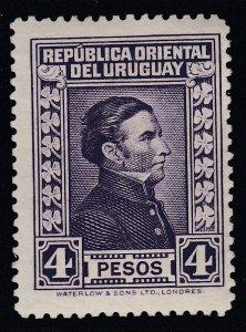 Uruguay 1929-33 4p Violet Artigas M Mint. Scott 380