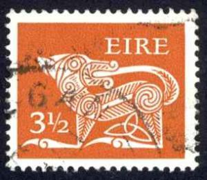 Ireland Sc# 347 Used 1974-1978 3 1/2p Definitive