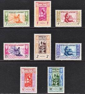 Dahomey Scott 141-48 complete set F to VF mint OG H or HR.