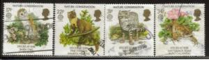 Great Britain Sc 1141-4 1986 Europa Nature stamps used