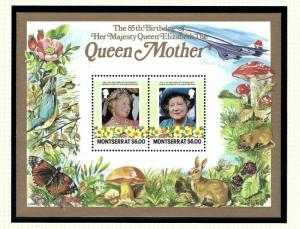 Montserrat 564 MNH 1985 Queen Mother Birthday S/S
