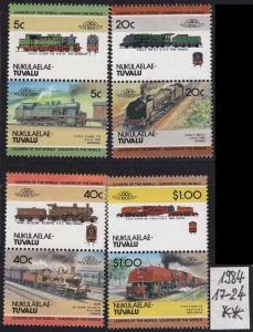 TUVALU [Nukulaela] MiNr 0017-24 ( **/mnh ) Eisenbahn