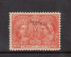 Canada #59s VF Mint With Specimen Overprint