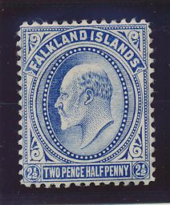 Falkland Islands Stamp Scott #25, Mint Lightly Hinged - Free U.S. Shipping, F...