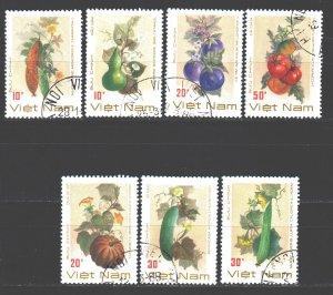 Vietnam. 1988. 1974-80. Vegetables flora. USED.