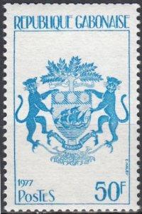 Gabon, Sc 381, MNH, 1977, Coat of Arms of Gabon