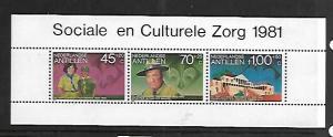 NETHERLANDS ANTILLES, B191A, MNH, SS, STRIP OF 3, CUB SCOUTS