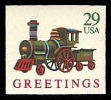 PCBstamps  US #2719 Bk Sgl 29c Locomotives, 1992, MNH, (7)