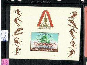 LEBANON   (PP0106B) SKIING     S/S  SG MS  1008AA  MNH