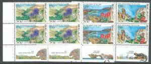 ISRAEL 1992 Nature Reserves set - tab blocks of 4 MNH......................12108