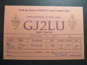 9946 Amateur Radio QSL Card ST HELIER JERSEY