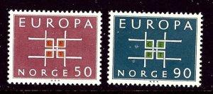 Norway 441-42 MNH 1963 Europa    (ap3354)