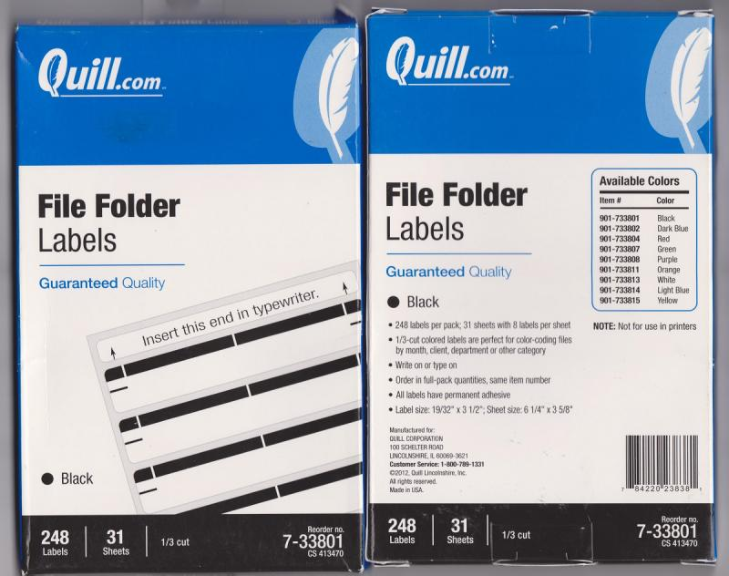 248 Labels for Glassine Envelopes