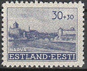 Stamp Germany Estland Mi 06 Sc NB3 WWII War Germany Estonia Occupation EESTI MH