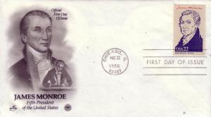 U.S. FDC Sc.# 2216e James Monroe, Artcraft L619