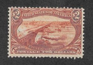 293 Unused,  $2 Trans-Mississippi, scv: $1,800, FREE SHIPPING