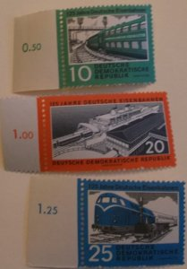 Germany East 529-31 MNH Train Topical Cat $4.50