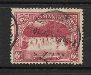 TASMANIA  1905-11  6d  PICTORIAL   FU  P12 1/2  SG 254