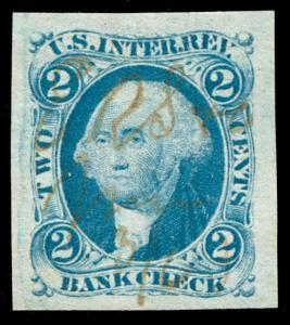 momen: US Stamps #R5a Revenue Manuscript Used SUPERB