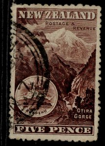 NEW ZEALAND EDVII SG343, 5d red-brown, USED. Cat £110.