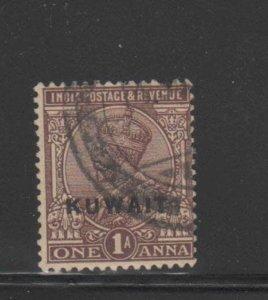 KUWAIT #2  1923  1a   KING GEORGE VI OVERPRINT   F-VF  USED  c