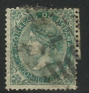 Spain 1868 Scott# 101 Used Madrid cancel