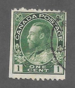 Canada Scott #131 Used 2c King George V Horizontal Coil  2018 CV $6.50