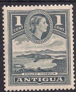 Antigua 1953 – 62 QE2 1ct Slate Grey MM  SG 121 ( M765 )