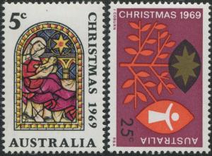 Australia 1969 SG444-445 Christmas set MNH