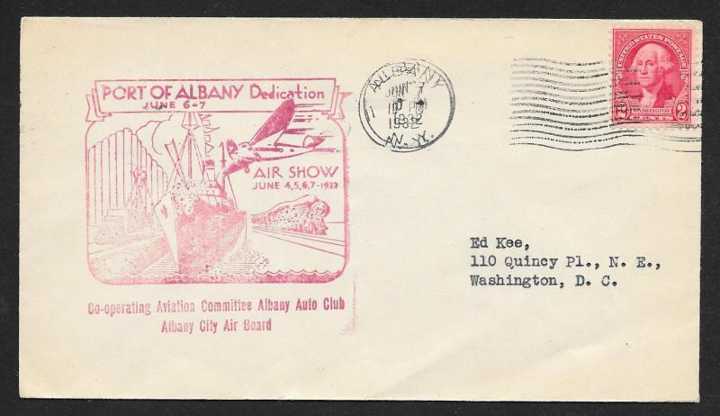UNITED STATES Event Cover Port of Albany Dedication 1932 Albany