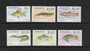 FISH - ZIMBABWE #696-701    MNH