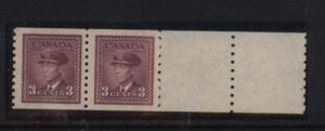 Canada #266 XF/NH Rare End Pair