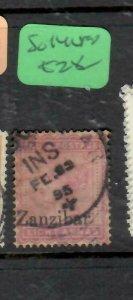 ZANZIBAR  (PP1206B)  1895 QV 8A ON INDIA  SG 14  SON CDS VFU