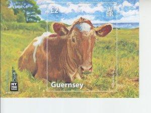 2016 Guernsey Cow New York Stamp Show SS  (Scott NA) MNH