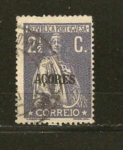 Azores 163 Ceres Overprinted Used