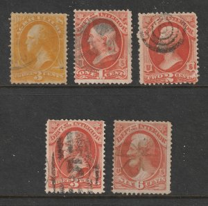 USA x 5 old used Officials 1 Agriculture 4 Interrior