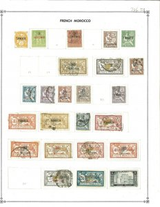 French Morocco 1899-1939 Mint & Used Hinged on Scott International Blank Pages