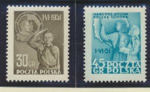 Poland Stamps Scott #506 To 507, Mint Hinged - Free U.S. Shipping, Free World...