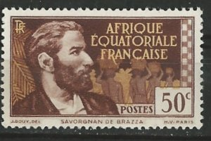 French Equatorial Africa # 48  DeBrassa 0.50fr  (1)    Unused