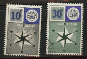 Netherlands Scott 372-3 used 1957 United Europe set
