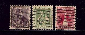 Switzerland B7-9 Used 1917 complete set
