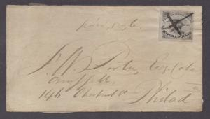 **US Local Cover, SC# 5L1 American Letter Mail, Black Brush Cancel, Cover Front