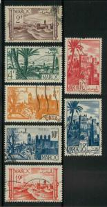 French Morocco 237-243 Used F-VF (scott # in ink on 237)