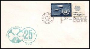 UN New York 25th Anniversary Irish Airlines 1961 Cover