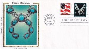 2004, Navajo Necklace, Colorano Silk, FDC (E11863)