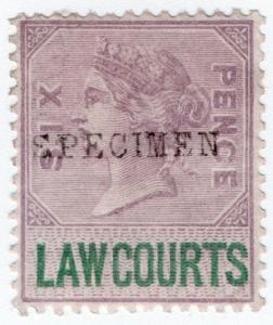 (I.B) QV Revenue : Law Courts (Scotland) 6d (1882) specimen